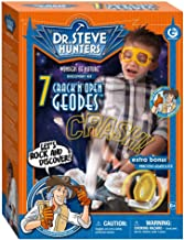 Geoworld Dr. Steve Hunters Wonders of Nature 7 Crack'n open Geodes Plus Agate Cut Slice Kit