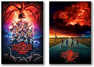 Stranger Things Season 2 Posters Set of 2 - 24in x 36in each TV Show - Fan Memorabilia