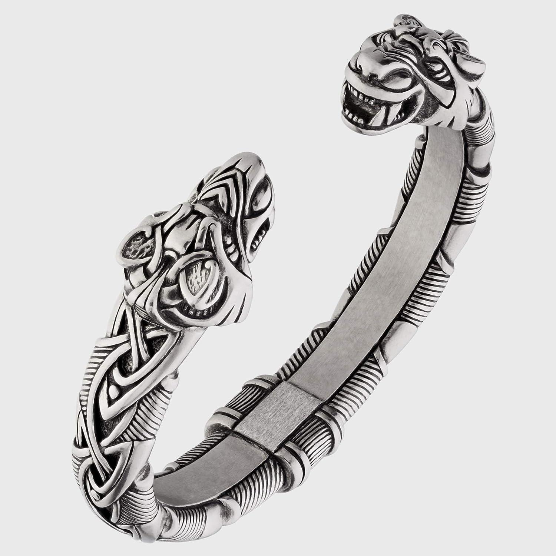 Viking Bracelet - Adjustable Pewter Ring Free Shipping New Norse Houston Mall Arm Scandinavia