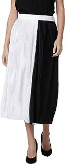 AZOLLA Black-White Midi Length Skirt for Women