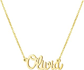 Personalized Name Necklace 18K Gold Plated New Mom Bridesmaid Gift Jewelry for Women