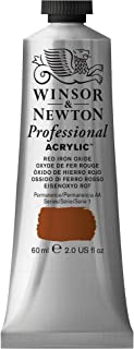Winsor & Newton Professional Acrylic Color Paint, 60ml Tube, Red Iron Oxide