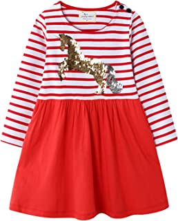 فساتين Wemoyami ذات أكمام طويلة للفتيات ملابس الخريف للأطفال
