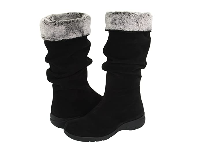 La Canadienne  Trevis (Black Suede) Womens Pull-on Boots