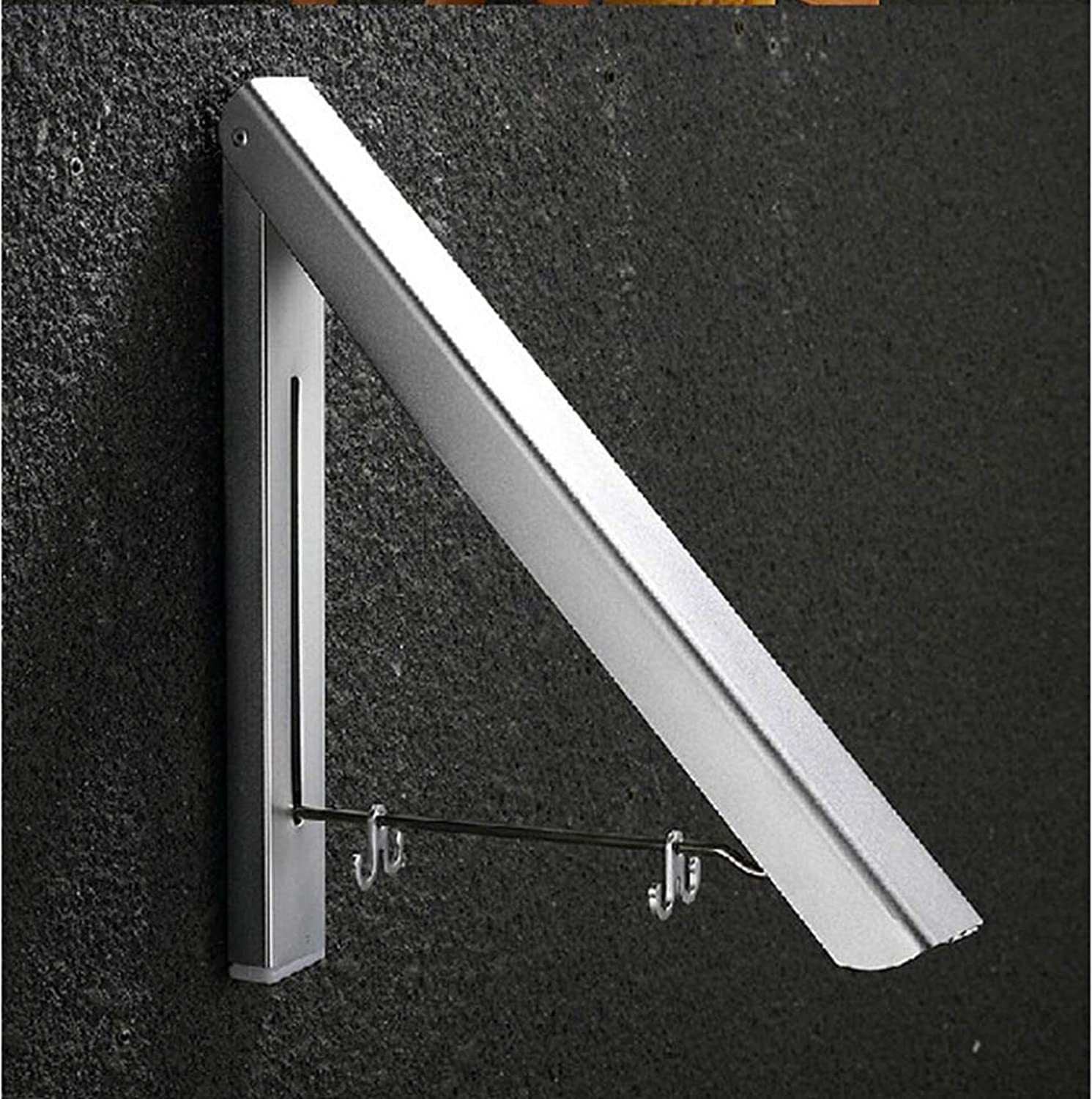 LUDSUY Wall Mounted Space Aluminum Drying Hanger Foldable