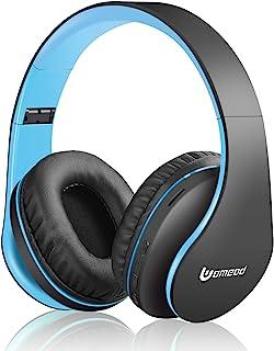 سماعات بلوتوث لاسلكية، سماعات ستيريو فوق الاذن V5.0 مع مايكروفون من يومود، قابلة للطي وخفيفة الوزن، تدعم بطاقة تي اف و ام ...