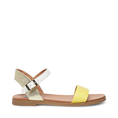 Steve Madden Dina Flat Sandals (Yellow Multi) Women