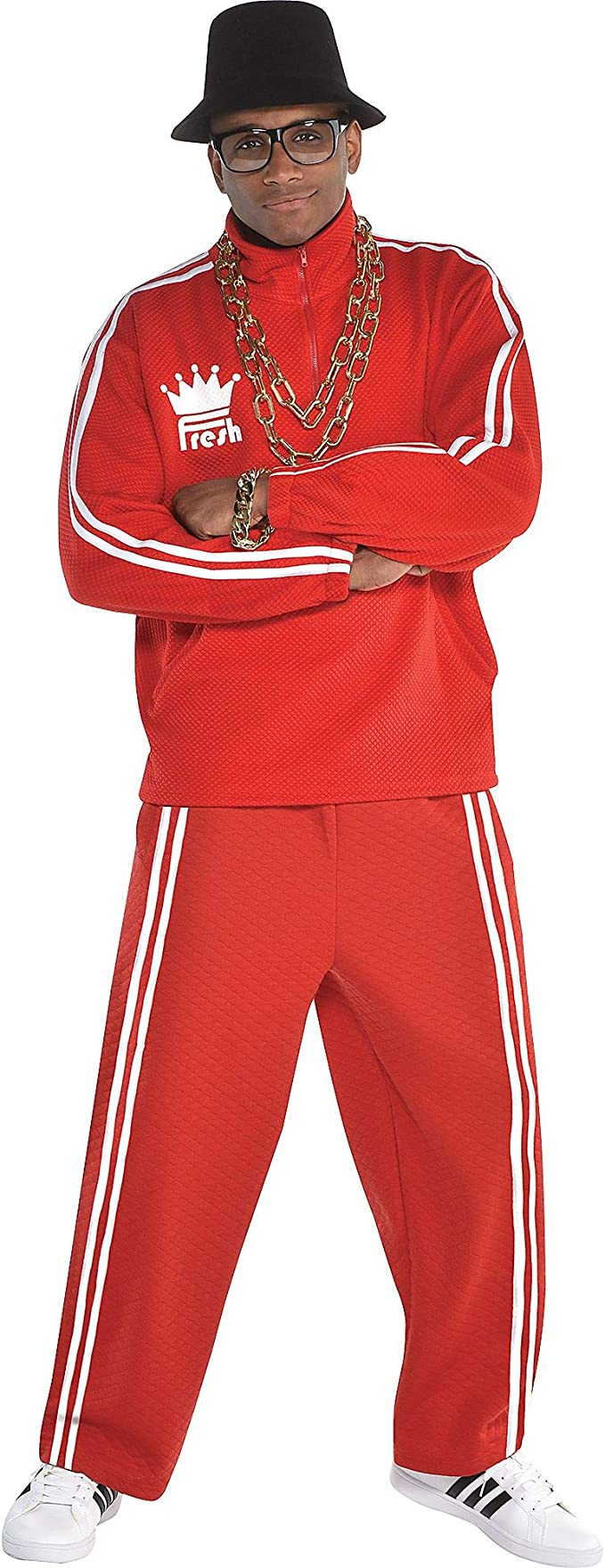 80s Men's Clothing   Shirts, Jeans, Jackets for Guys amscan Men Old School Rapper Costume Red One Size  AT vintagedancer.com