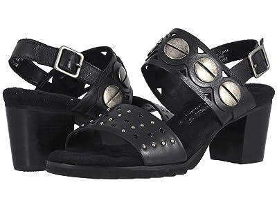 Walking Cradles Niko (Black Leather) High Heels