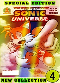 Universe Sonic Collection: Book 4 2021 Edition Cartoon Comic Adventure Of Great Sonic For Boys, Children