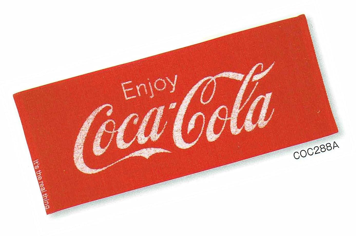 インド誰かみなすコカコーラ レッド?ジャガード フエイスタオル 34×80cm