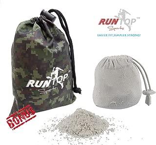 RUNTOP 2.4OZ Refillable Magnesium Carbonate GYM Chalk Ball for Weight lifting Crossfit WODS Gymnastics Rock Climbing PowerLifting Workout No Slip