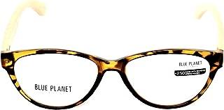 Blue Planet Reading Glasses Ecological Women Sustainable Bamboo Ladies Designer Eyeglasses Honey Tortoise 1.25