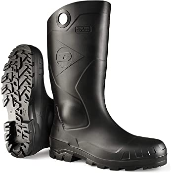 Dunlop 8677509 Chesapeake Boots, 100% Waterproof PVC, Lightweight and Durable Protective Footwear, Size 9