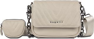Bugatti Sira Schultertasche für Damen - edle Umhängetasche in Beige