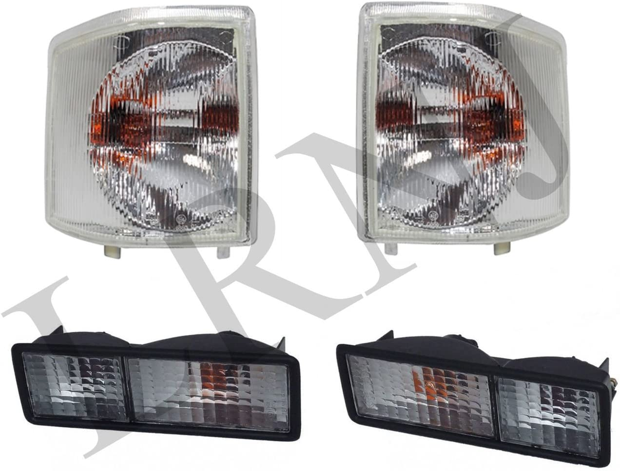 Colorado Springs Mall BRITPART FRONT REAR CLEAR LIGHT SET Max 46% OFF LH COMPATIBLE WITH RH LA
