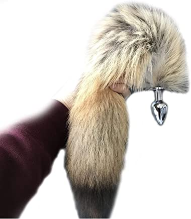 0546a78278c Real Bush wolf coyote Fur tail Plug Keychain Tassel Cosplay bag charm