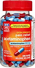 Rite Aid Extra Strength 500 mg Acetaminophen Pain Relief, Rapid Release Gelcaps - 225 Count   Pain Reliever, Joint Pain Relief   Muscle Pain Relief   Arthritis Pain Relief   Back Pain Relief Products