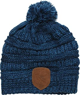 HARRY POTTER Ravenclaw Knit Beanie with Mock Leather Badge, One Size Fits Most Blue