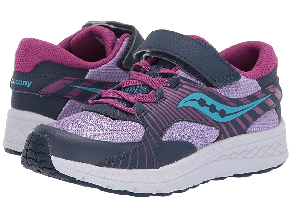 Saucony Kids S-Velocer A/C (Little Kid/Big Kid) (Purple/Multi) Girls Shoes