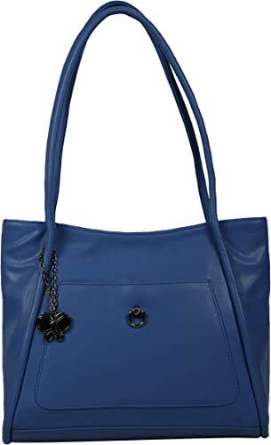 Women Texture Handbag Blue BNS 0670BL