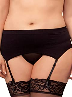 iCollection Women's Plus Size High Waisted Seamless Garter