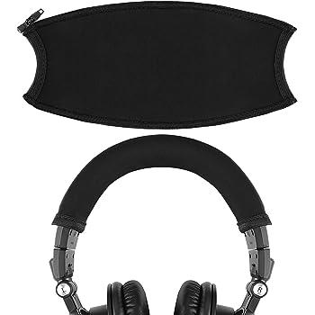 Geekria ヘッドバンド カバー ATH-M50x, オーディオテクニカ ATH-M50xWH, ATH-M50xBB 等 ヘッドホン 用 簡単なインストール
