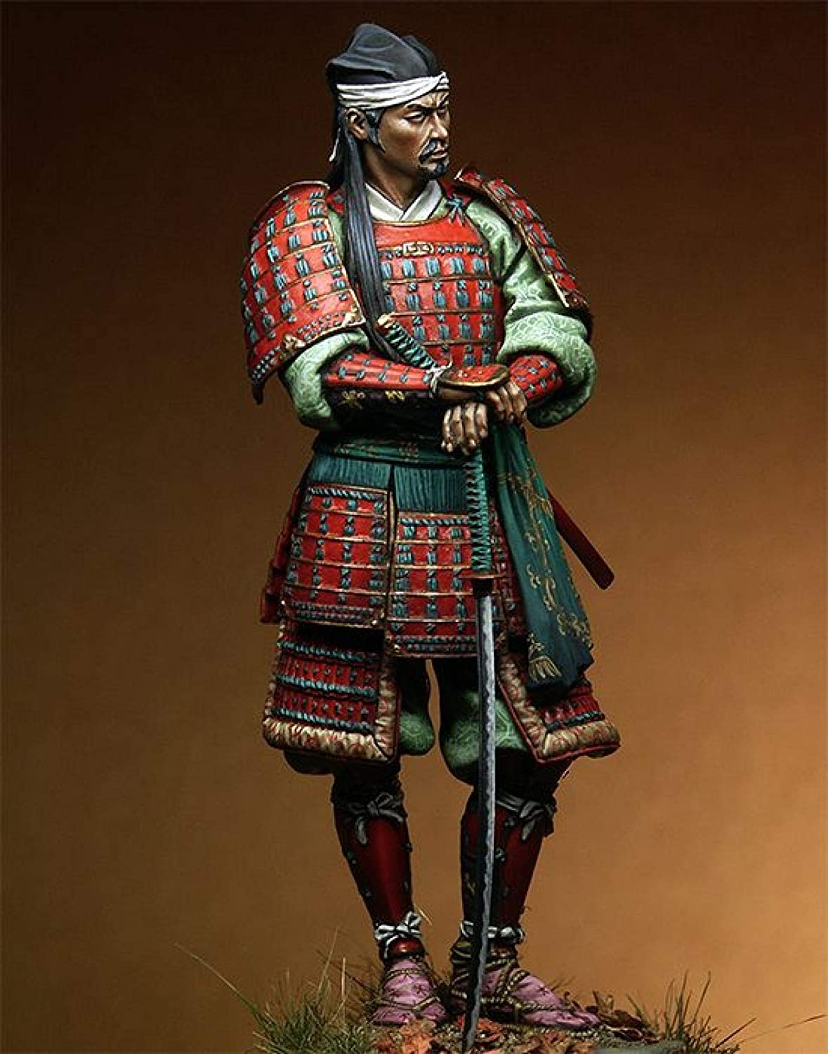 Splindg 1 Limited time trial price 18 90mm Resin Soldier Sam Model Japanese Ancient Max 59% OFF Armor
