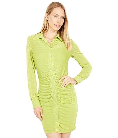 Bebe Shirred Front Polo Dress