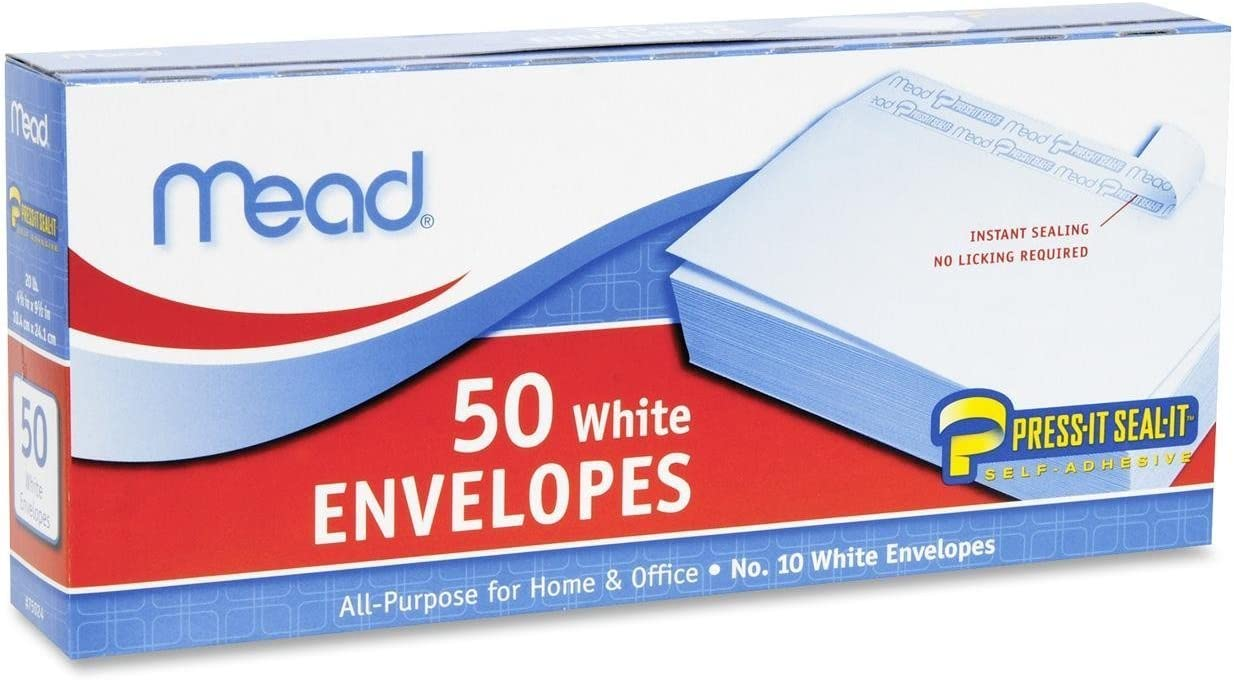 24 Pack of Mead Press-It Seal-It Ranking TOP3 Envelopes White Count 50 #10 Alternative dealer