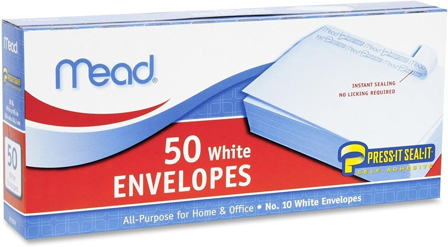Mead Press-It Seal-It  10 10 10 Weiß Envelopes, 50 Count (75024)  100 Envelopes by Mead B00O7UGNE6 | Sale Online
