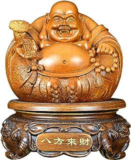 笑う仏像風水装飾、樹脂工芸ビッグベリー弥勒仏飾り、幸運な新築祝いの贈り物悪霊お金を引く富の幸運、自然