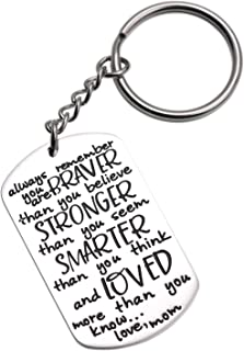 LParkin 2019 Graduation Gift Keychain for Daughter Son from Mom Motivation Keychain You are Braver Than You Believe Stronger Than You Seem Smarter Than You Think