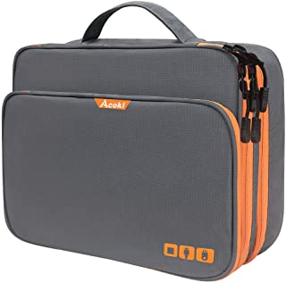 Three Layer Electronic Accessories Organizer, Acoki New Storage Handbag with Front Pocket Travel Cable Organizer Bag Water...