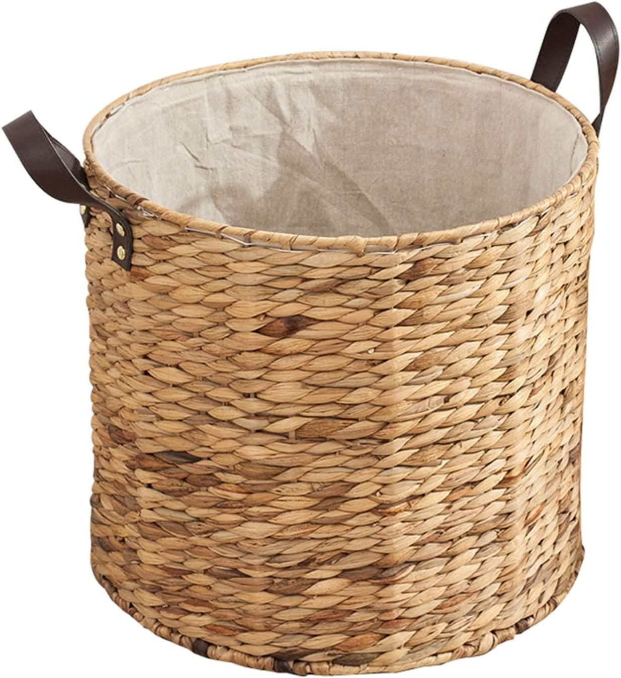 lxm Round Hand-Woven Straw Outstanding Woven Arlington Mall Basket Dirty Clothes Multifunc