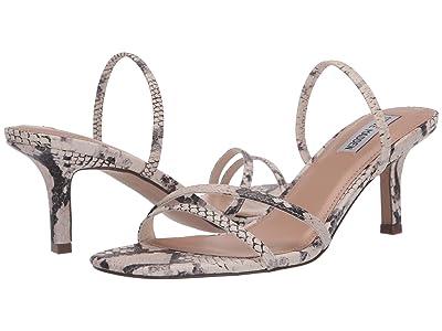 Steve Madden Loft Heeled Sandal (Beige Snake) Women