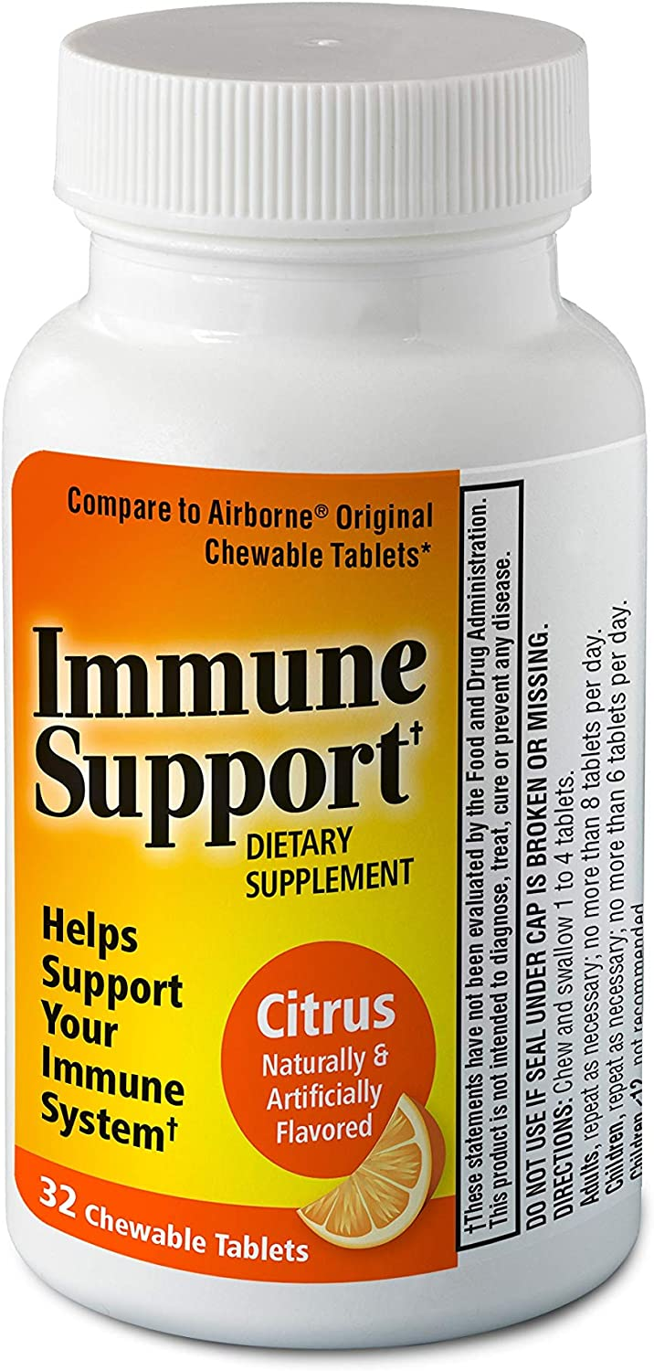 Immune Support Chewable Tablets 32ct Attention brand Citrus Max 63% OFF