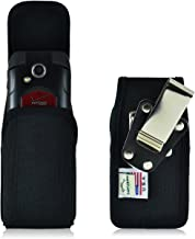 Turtleback Belt Clip Case Compatible with Kyocera DuraXV DuraXA Black Vertical Holster Nylon Pouch with Heavy Duty Rotatin...