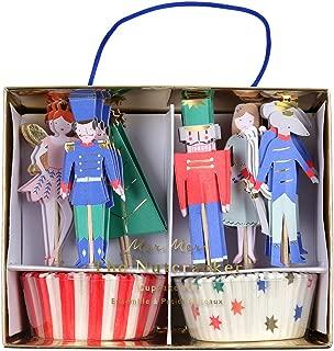 Meri Meri Nutcracker Scene Cupcke Kit 45-2955, Set Includes 24 Liners and 24 Toppers