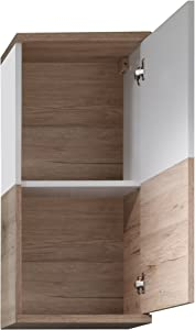 Trendteam Campus San Remo 1316-501-91 - Armario de pared para de baño de roble, 36 x 79 x 22 cm, blanco