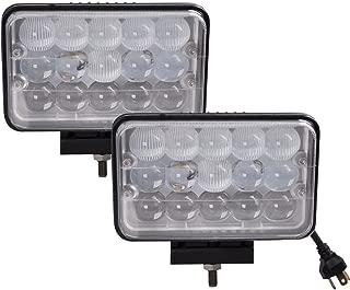 Lightronic 4X6 Inch Rectangular 12-24V 45W 6000K Long Range Combo Beam LED Off Road Fog & Driving Light (2 Pack)