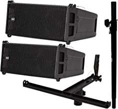 2X RCF HDL 6-A 1400W Line Array Speakers + Pole Mount Kit (Holds 3X)+ Sub Pole