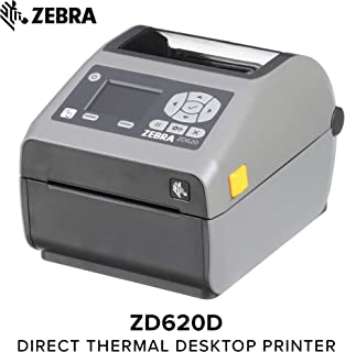 Zebra - ZD620d Direct Thermal Desktop Printer with LCD Screen - Print Width 4 in - 203 dpi - Interface: WiFi, Bluetooth, USB, Serial, Ethernet - ZD62142-D01L01EZ