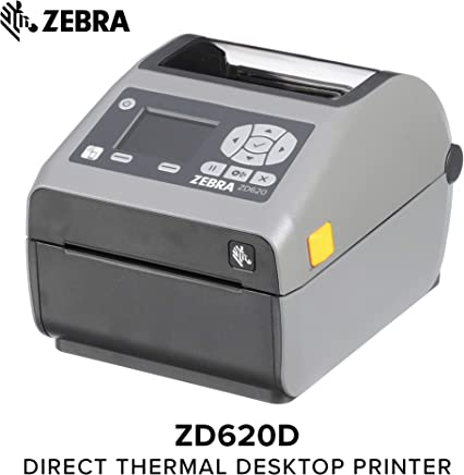 $599 Get Zebra - ZD620d Direct Thermal Desktop Printer with LCD screen - Print Width 4 in - 203 dpi - Interface: Ethernet, Serial, USB - ZD62142-D01F00EZ