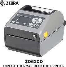 Zebra - ZD620d Direct Thermal Desktop Printer with LCD Screen - Print Width 4 in - 203 dpi - Interface: WiFi, Bluetooth, USB, Serial, Ethernet - ZD62142-D01L01EZ