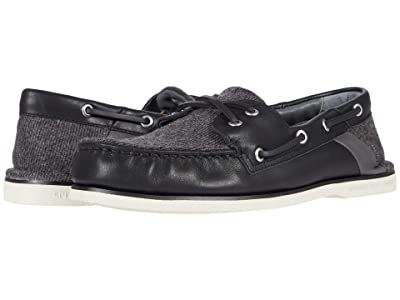 Sperry Gold Cup A/O Cross Lace Tweed (Black) Men