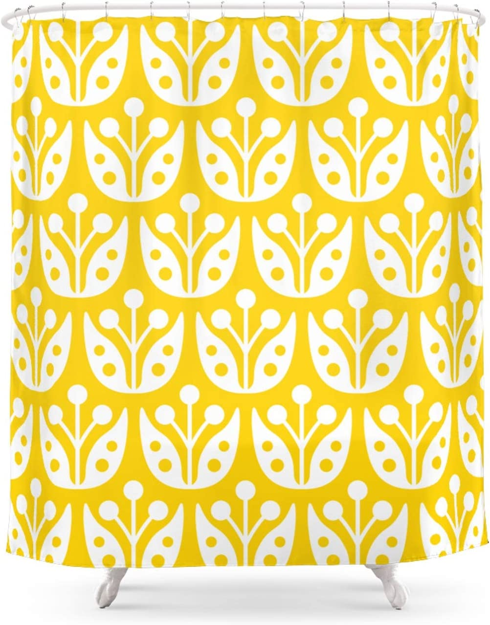 Society6 Mid Century Flower Pattern Yellow by on Magner Sho Fixed price for sale Tony Bargain