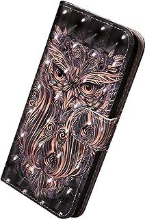 Herbests Etui kompatybilne z Huawei Mate 20 Lite, skórzane etui z klapką w stylu vintage, kolorowy wzór, etui na telefon k...
