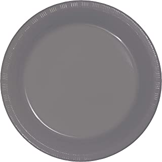 Creative Converting 339657 PREM PL LUNCHEON PLATES, 7 in, 20 ct, Gray