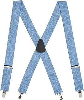 SuspenderStore Men's Solid Color CLIP Suspenders - 1.5-Inch Wide (4 sizes, 18 colors)
